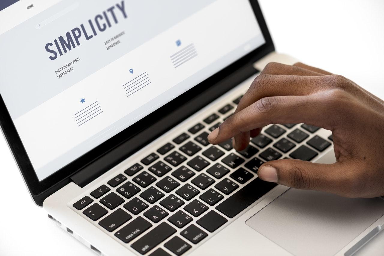 Resume On Laptop Keeping It Simple